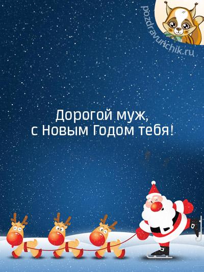 Дорогой муж, с Новым годом тебя!