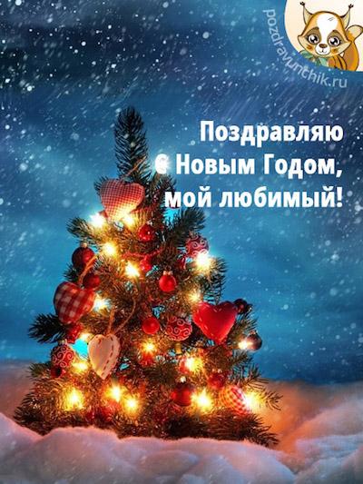 Поздравляю с Новым годом, любимый!