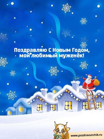 Поздравляю с Новым Годом, мой любимый муженек!