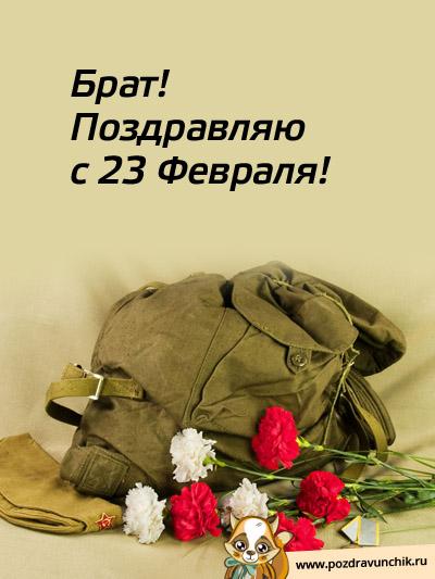 23 февраля поздравить брату