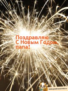 Поздравить папу с новым годом